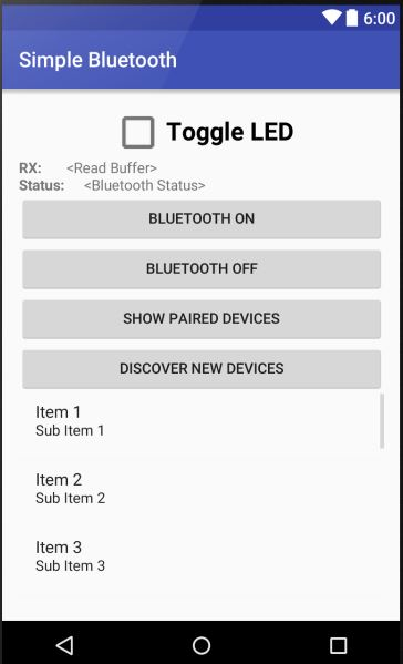 Simple Android Bluetooth Application with Arduino Example