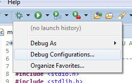 Eclipse new debug configuration