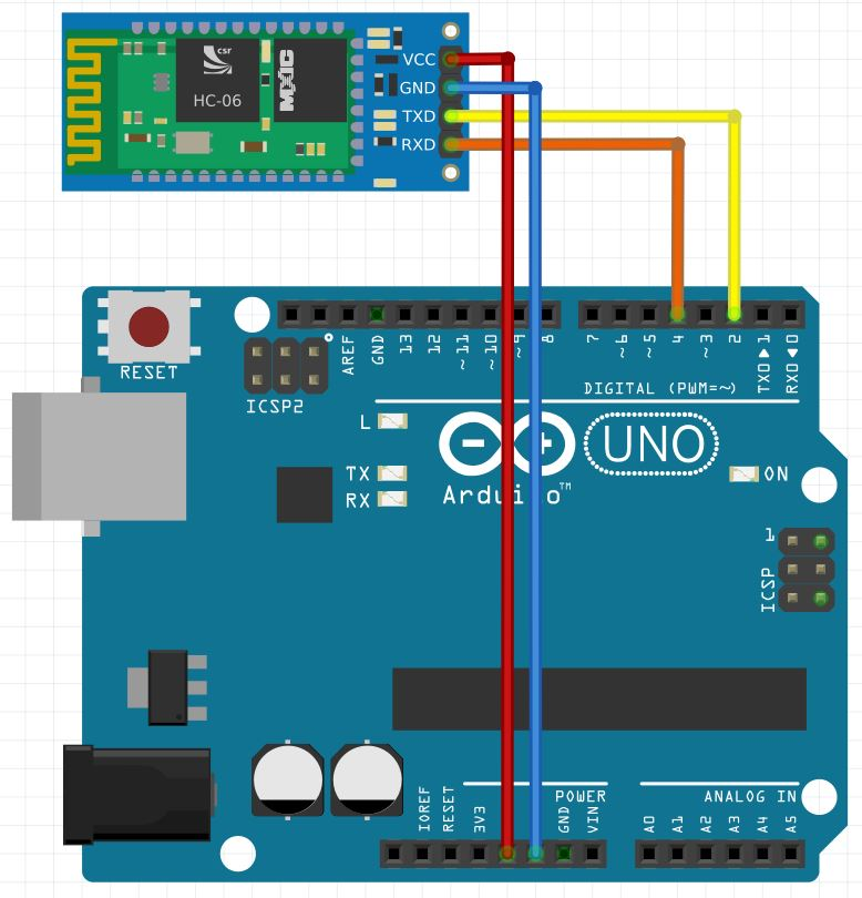 arduino to hc-06 schematic
