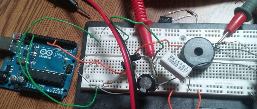 Arduino dc boost converter design circuit with control